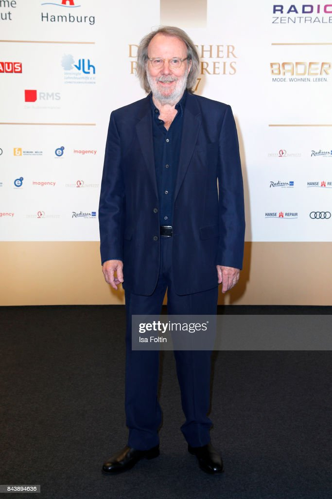Music producer Benny Andersson (former ABBA member) attends the 'Deutscher Radiopreis' (German Radio Award) at Elbphilharmonie on September 7, 2017 in Hamburg, Germany.