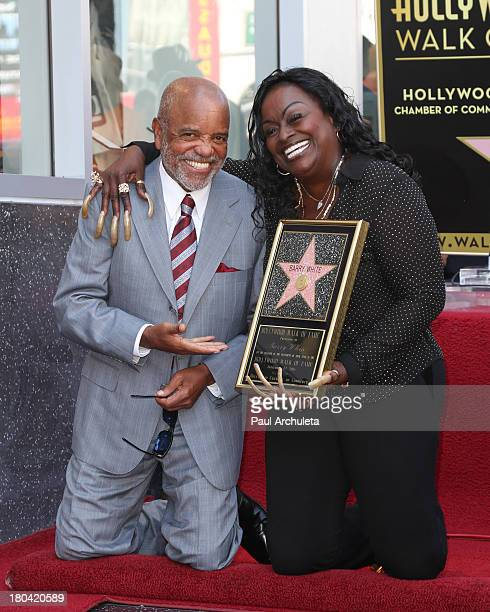 Music Producer Berry Gordy and Glodean White attends the Star ceremony honoring Barry White on the Hollywood Walk Of Fame on September 12 2013 in...