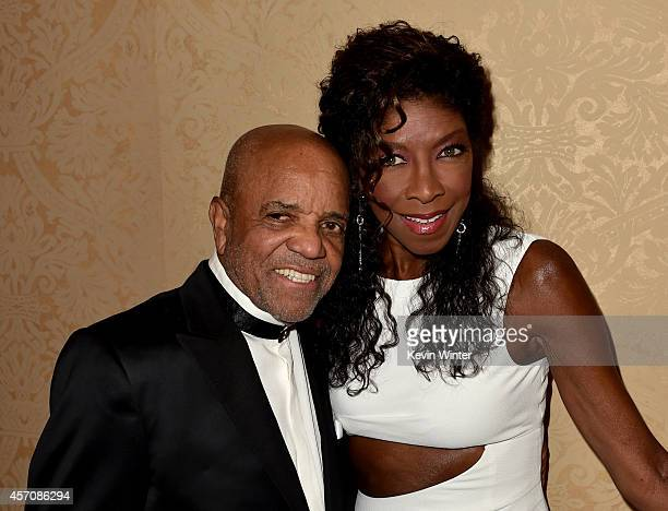 Music producer Berry Gordy and recording artist Natalie Cole attend the 2014 Carousel of Hope Ball presented by MercedesBenz at The Beverly Hilton...