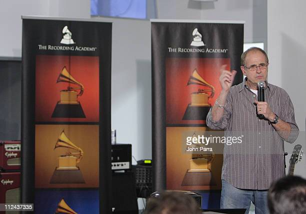 Music producer Bob Ezrin speaks at the Gibson Studio March 14 2008 in Miami Beach Florida