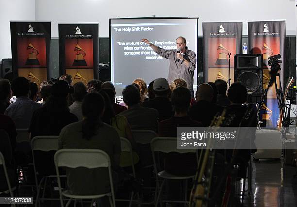Music producer Bob Ezrin speaks at the Gibson Studio March 14 2008 in Miami Beach Florida