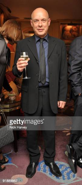Music producer Brian Eno attends a private dinner for Brioni hosted by Bryan Ferry at Annabel's on October 14 2009 in London England