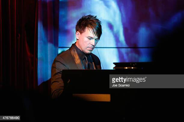 Music producer BT performs onstage during BT Electronica in Film during the 2015 Los Angeles Film Festival at The GRAMMY Museum on June 11 2015 in...