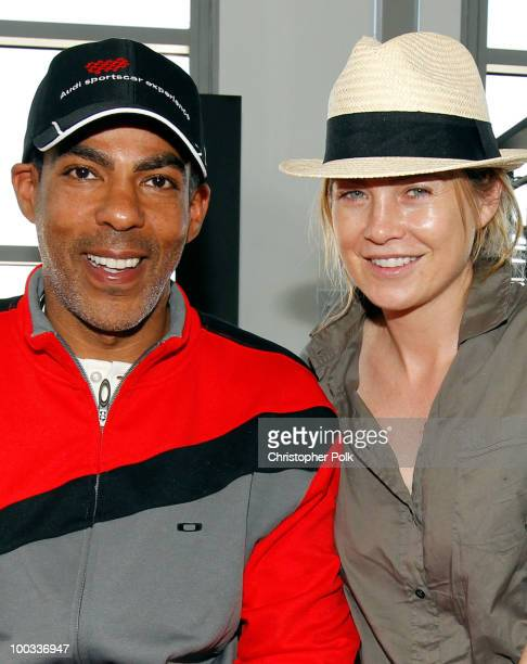 Music producer Chris Ivery and actress Ellen Pompeo attend 'Learn to Ride' with the Audi Sportscar Experience 2010 presented by Oakley at Infineon...