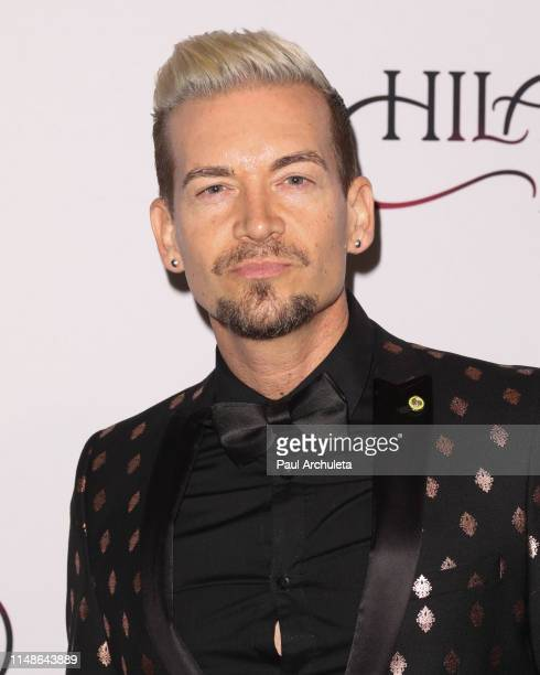 Music Producer Damon Sharpe attends the Hilary Roberts birthday celebration and the Red Songbird Foundation launch party at The Beverly Hilton Hotel...