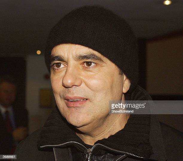 """Music producer Daniel Lanois appears on """"The Late Late Show"""" at RTE studios on October 31, 2003 in Dublin, Ireland."""