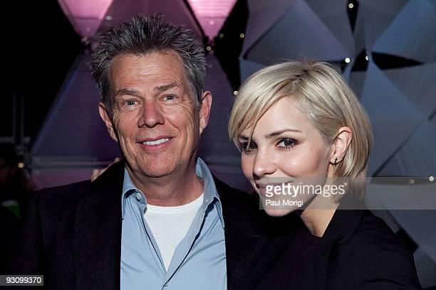 Music producer David Foster and Katharine McPhee at the Kaleidoscope rehearsal presented by sanofiaventis US airing nationally on Thanksgiving Day on...