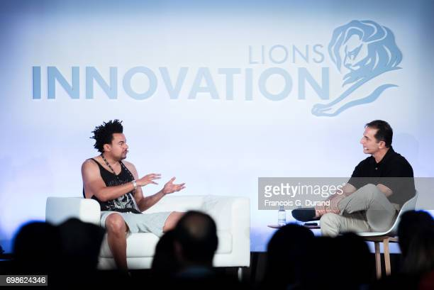 Music Producer Founder and CEO of KIDinaKORNER Alex Da Kid and Chief Digital Officer of IBM Bob Lord attends the Cannes Lions Festival 2017 on June...