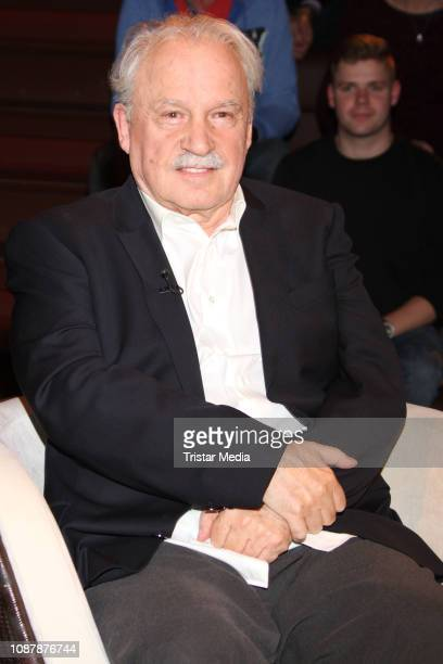 Music producer Giorgio Moroder during the 'Markus Lanz' TV show on January 22 2019 in Hamburg Germany