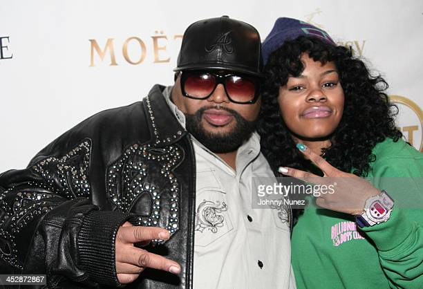 Music producer Jazzy Pha and recording artist Teyana Taylor attend the Kenny Smith 8th Annual AllStar Bash on February 12 2010 in Dallas Texas