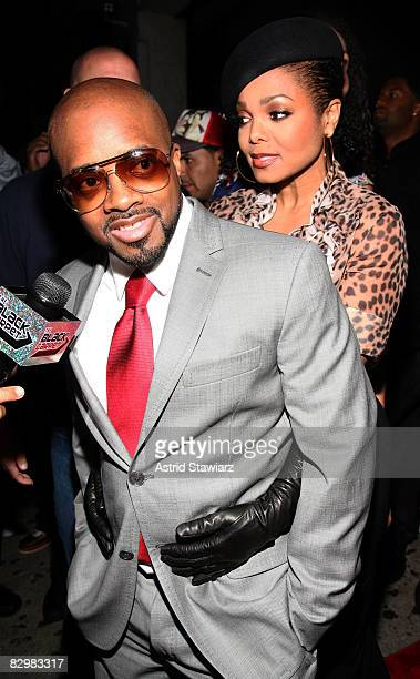 Music producer Jermaine Dupri and singer Janet Jackson attend Jermaine Dupri's 36th birthday party at Tenjune on September 23, 2008 in New York City.