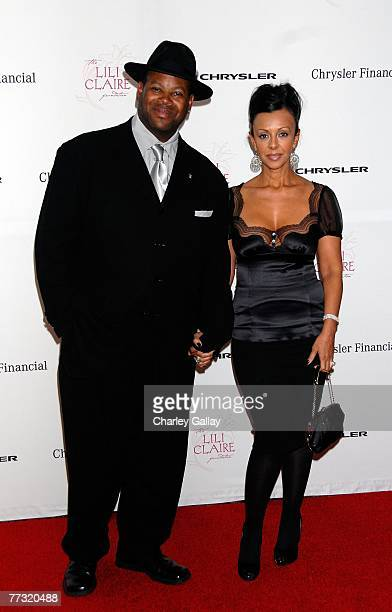 Music Producer Jimmy Jam and wife Lisa Padilla arrive at the Lili Claire Foundation 10th annual benefit dinner and auction held at the Hyatt Regency...