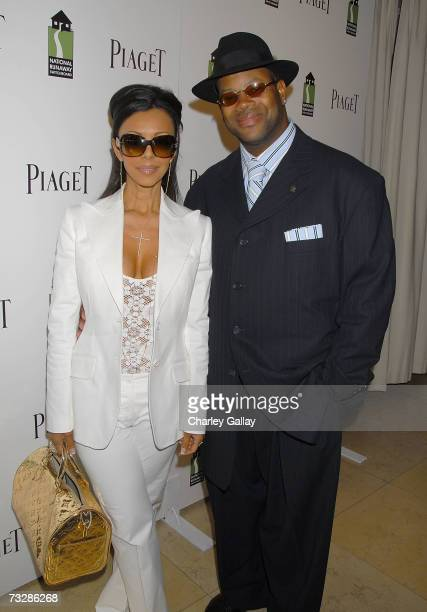 Music Producer Jimmy Jam and wife Lisa Padilla arrive at the Piaget preGRAMMY Brunch honoring musicians Mary J Blige and Chris Ludacris Bridges in...