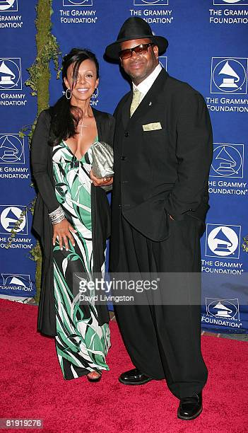 Music producer Jimmy Jam and wife Lisa Padilla attend the Grammy Foundation's Starry Night gala at the University of Southern California on July 12...