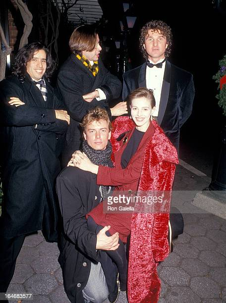 Music producer John Jellybean Benitez actor Judd Nelson actor Barry Tubb and actress Marla Hansonthe Sweet Sue Broadway Play Opening Night Party on...