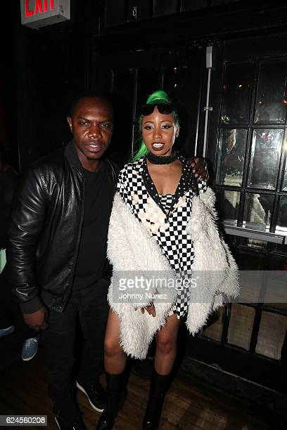 Music producer KMack and recording artist Liana Banks attend Webster Hall on November 19 2016 in New York City