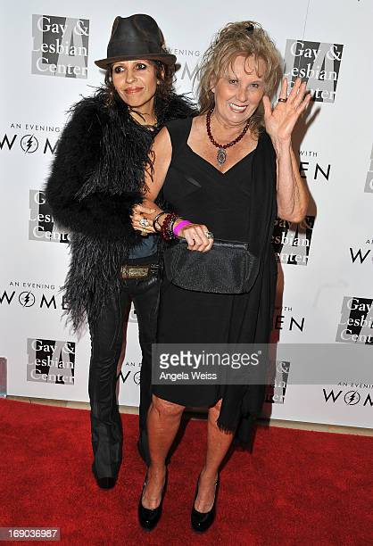 Music producer Linda Perry and her mom Marluce Perry arrive at the LA Gay Lesbian Center's 2013 'An Evening With Women' Gala at The Beverly Hilton...