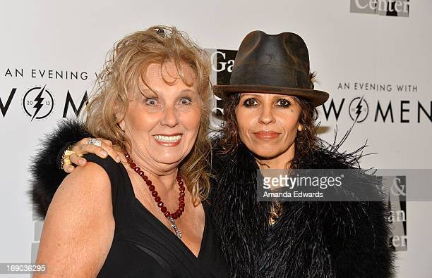 Music producer Linda Perry and her mother Marluce Perry arrive at the LA Gay Lesbian Center's 2013 An Evening With Women Gala at The Beverly Hilton...