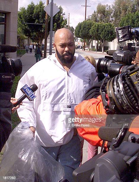 Music producer Marion Suge Knight of Death Row records exits Los Angeles County Jail after being in jail for over two months for parole violations on...