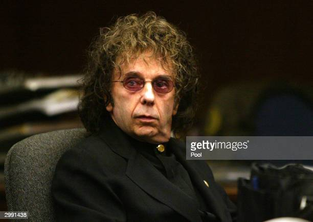 Music producer Phil Spector attends an evidentiary hearing in Alhambra Municipal Court February 17, 2004 in Alhambra,California. Spector is charged...