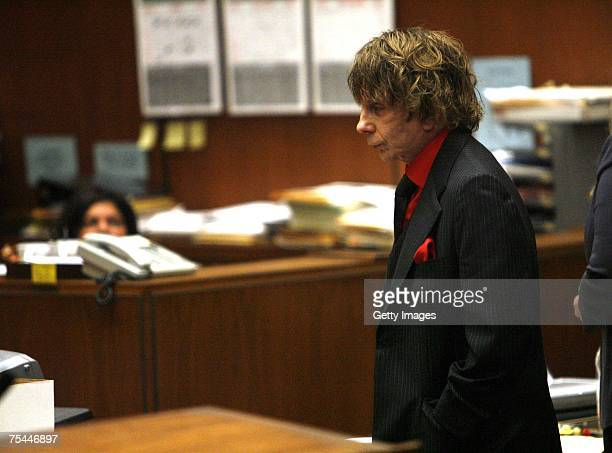 Music producer Phil Spector attends his murder trial in Superior Court July 17, 2007 in Los Angeles, California Spector is accused in the shooting...