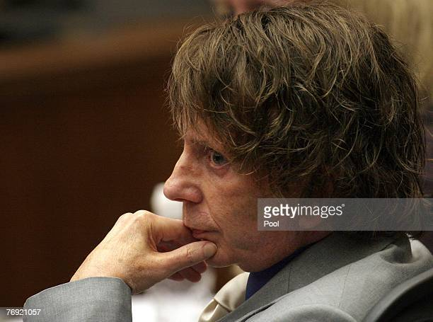 Music producer Phil Spector is shown during his murder trial in Los Angeles Superior Court September 20, 2007 in Los Angeles. Spector stands accused...