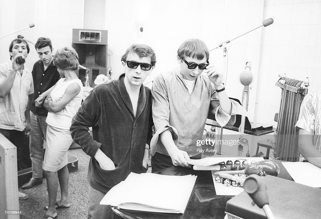 A Christmas Gift For You From Phil Spector.Music Producer Phil Spector With Arranger Jack Nitzsche And