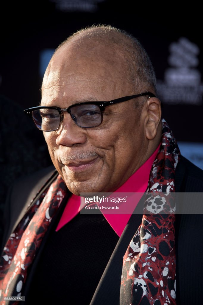 Music producer Quincy Jones arrives at the 2017 TCM Classic Film Festival - Opening Night Gala - 50th Anniversary Screening of 'In The Heat Of The Night' at the TCL Chinese Theatre IMAX on April 6, 2017 in Hollywood, California.