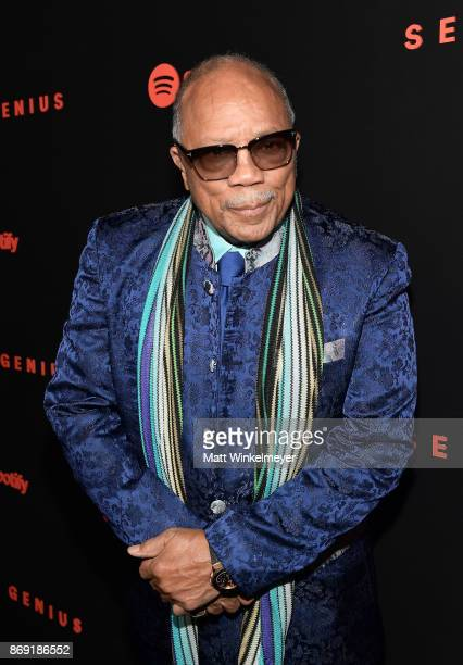Music producer Quincy Jones attends Spotify's Inaugural Secret Genius Awards hosted by Lizzo at Vibiana on November 1 2017 in Los Angeles California