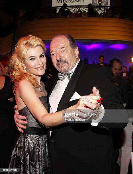 Music producer Ralph Siegel and his wife singer Kriemhild at 37th German Filmball at Hotel Bayerischer Hof in Munich on 160110