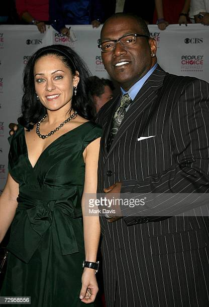 Music producer Randy Jackson and wife Erika Riker arrive at the 33rd Annual People's Choice Awards held at the Shrine Auditorium on January 9 2007 in...