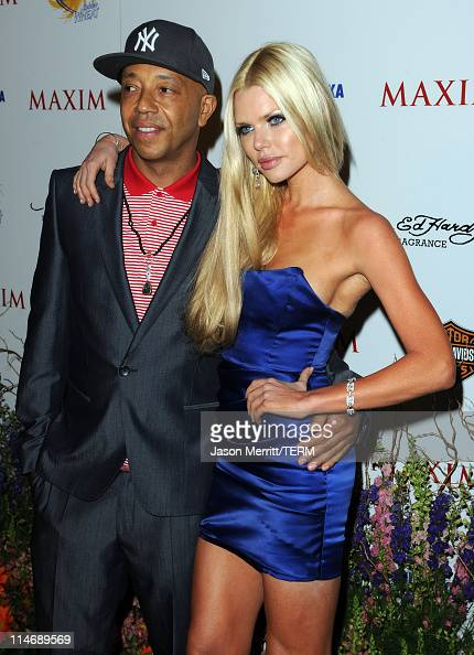 Music Producer Russell Simmons and actress Sophie Monk ...