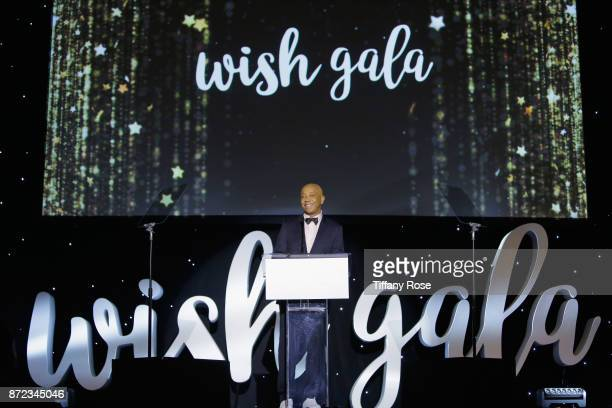 Music producer Russell Simmons speaks onstage at the 2017 Make a Wish Gala on November 9 2017 in Los Angeles California