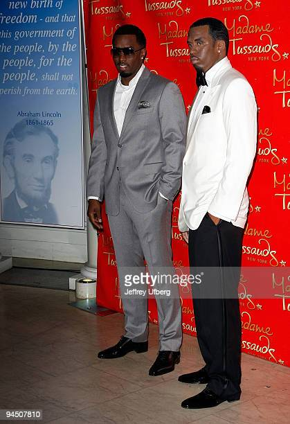 Music Producer Sean Diddy Combs attends the Sean Combs wax figure unveiling at Madame Tussauds on December 15 2009 in New York City