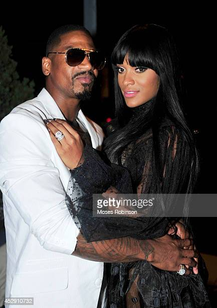 Music Producer Stevie J with his wife recording artist Joseline Hernandez attend UrbanDaddy Presents Grey Goose Le Melon Fruit Of Kings at W Atlanta...