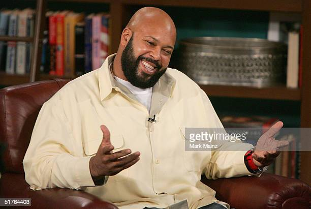 Music Producer Suge Knight and guest host DLHughley appear at CBS Studios for a taping of The Late Late Show on November 18 2004 in Los Angeles...
