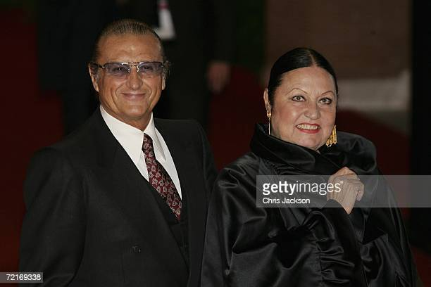 Music producer Tony Renis and wife Elettra Morini attend the premiere of the movie Nightmare Detective on the second day of Rome Film Festival on...