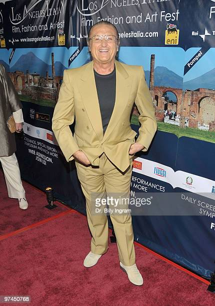 Music producer Tony Renis attends the ceremony to honor Samuel L Jackson and Latanya Richardson at the 5th LA Italia Festival at Mann Chinese 6 on...