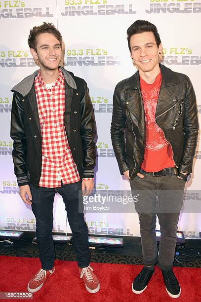 Music Producer Zedd and Matthew Koma attend 93.3 FLZ's Jingle Ball 2012 at Tampa Bay Times Forum on December 9, 2012 in Tampa, Florida.