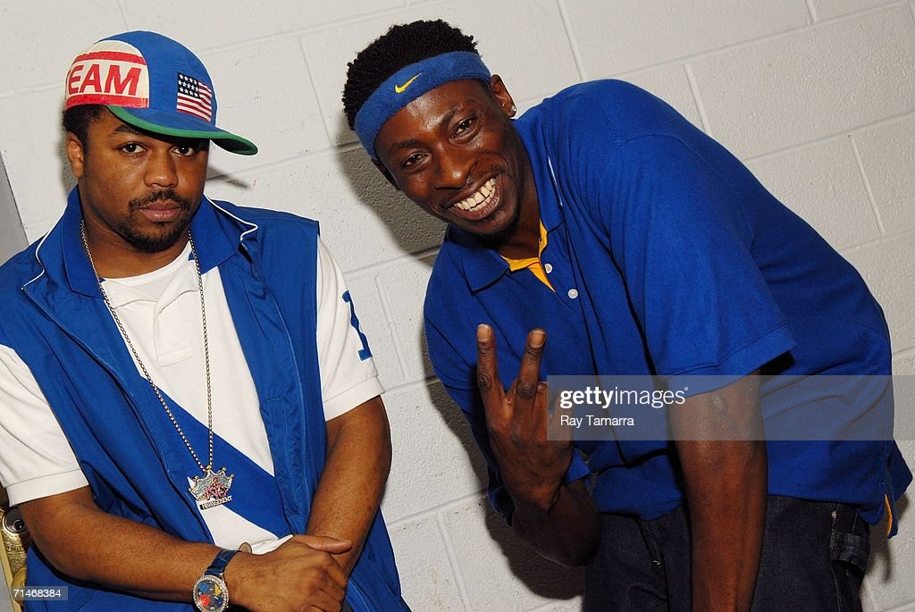 Music producers Just Blaze (L) and Pete Rock attend Slick Rick's concert at B.B. King Blues Club July 16, 2006 in New York City.