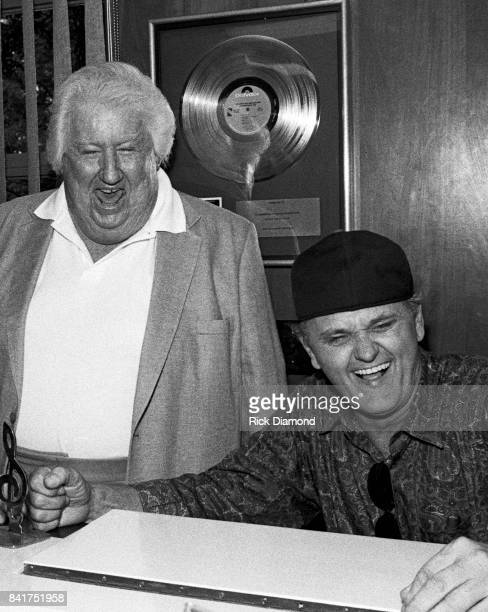 Music Publisher Bill Lowery and Singer/Songwriter/Actor Jerry Reed attend Lowery Group celebration at The Lowery Group offices and Studio in Atlanta...