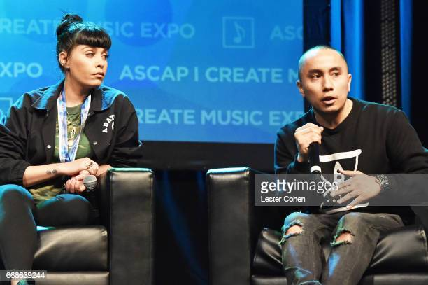 Music Publisher Jennifer Goicoechea and Atlantic Records Urban AR Gary Leon speak onstage at 'Building Your Team' during the 2017 ASCAP I Create...