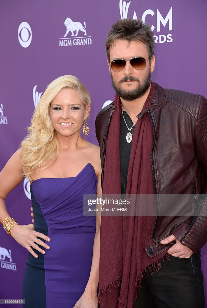 Music publisher Katherine Church and singer Eric Church arrive at the 48th Annual Academy of Country Music Awards at the MGM Grand Garden Arena on April 7, 2013 in Las Vegas, Nevada.