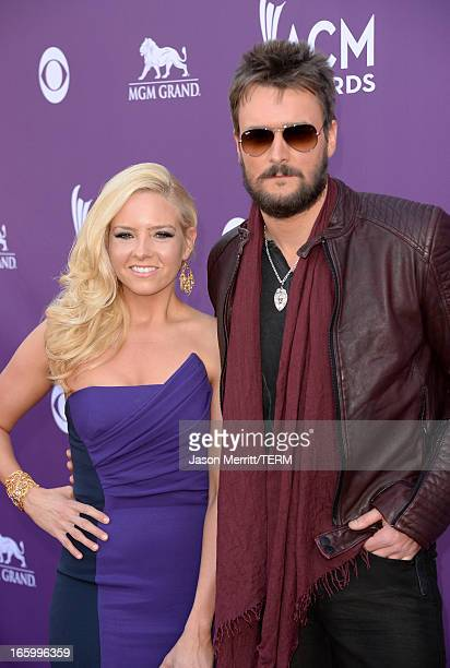 Music publisher Katherine Church and singer Eric Church arrive at the 48th Annual Academy of Country Music Awards at the MGM Grand Garden Arena on...