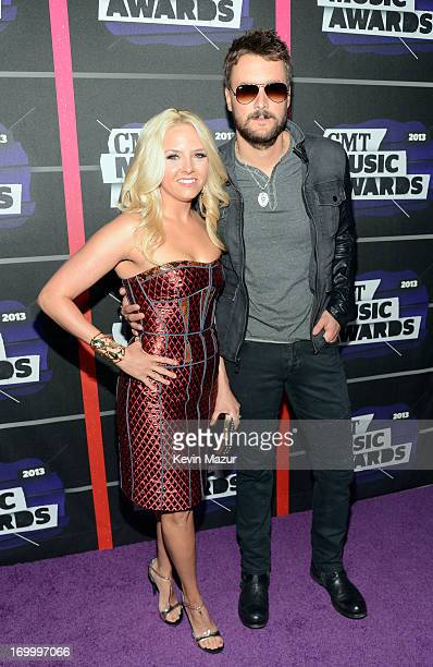 Music publisher Katherine Church and singer Eric Church attend the 2013 CMT Music awards at the Bridgestone Arena on June 5 2013 in Nashville...