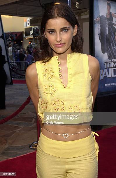 """Music recording artist Nelly Furtado arrives at the world premiere of Paramount Pictures'' """"Lara Croft: Tomb Raider"""" June 11 at the Mann Village..."""