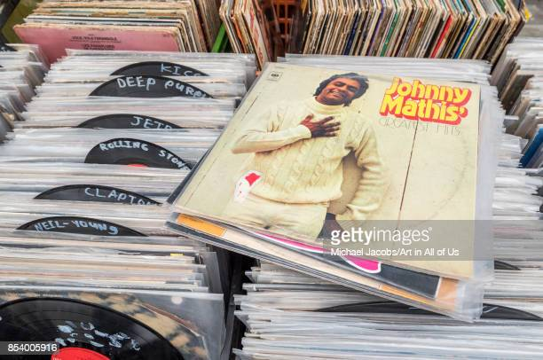 Music records sold in the flea market shuk hapishpeshim february 2nd 2017 Tel AvivYafo Israel
