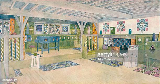 'Music Room in a House at Crowborough' c1902 The Music Room of what is thought to be Winscombe House From The Studio Volume 26 [London Offices of the...