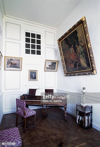 Music room of the Chateau de Ravel Auvergne France