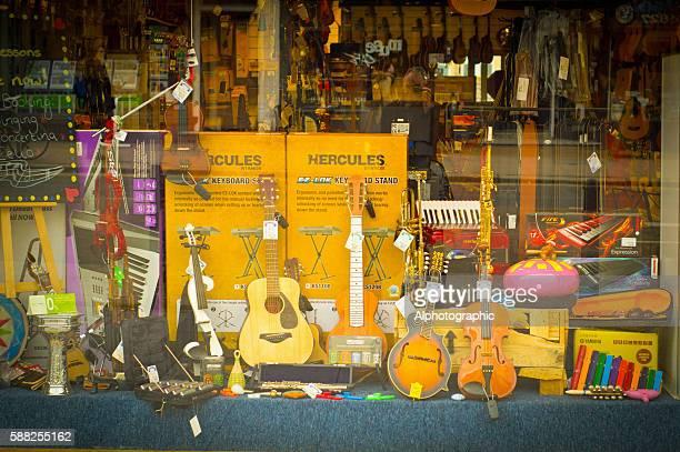 Music shop window